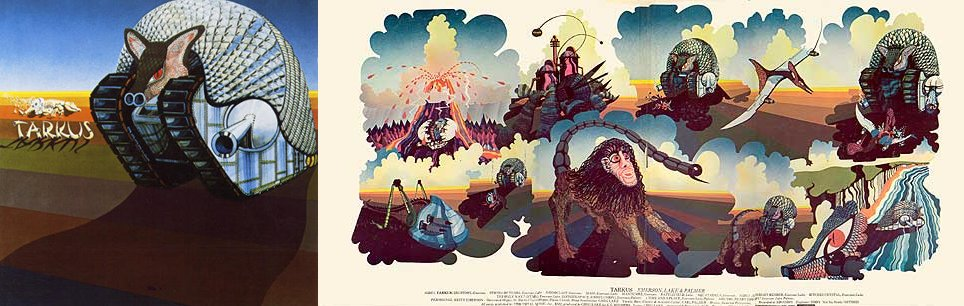 Emerson, Lake and Palmer, Tarkus, 1971. Illustration : William Neal