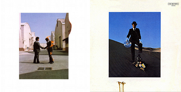 Pink Floyd, Wish You Were Here, 1975. Conception : Hipgnosis