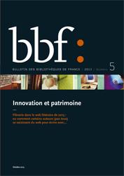 Couv. BBF 5-2013
