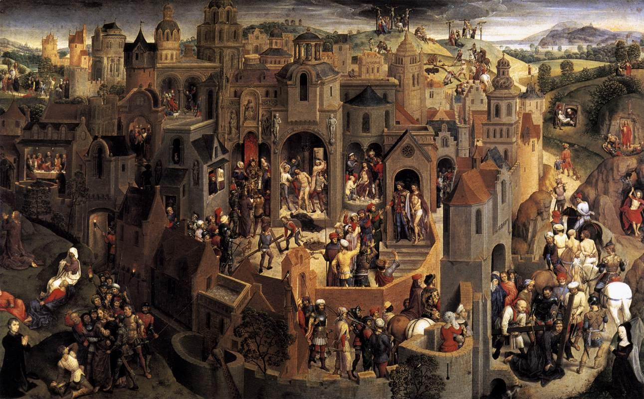 Les Scènes de la passion du Christ de Hans Memling (réalisé aux environs de 1470) - Cliquer pour agrandir