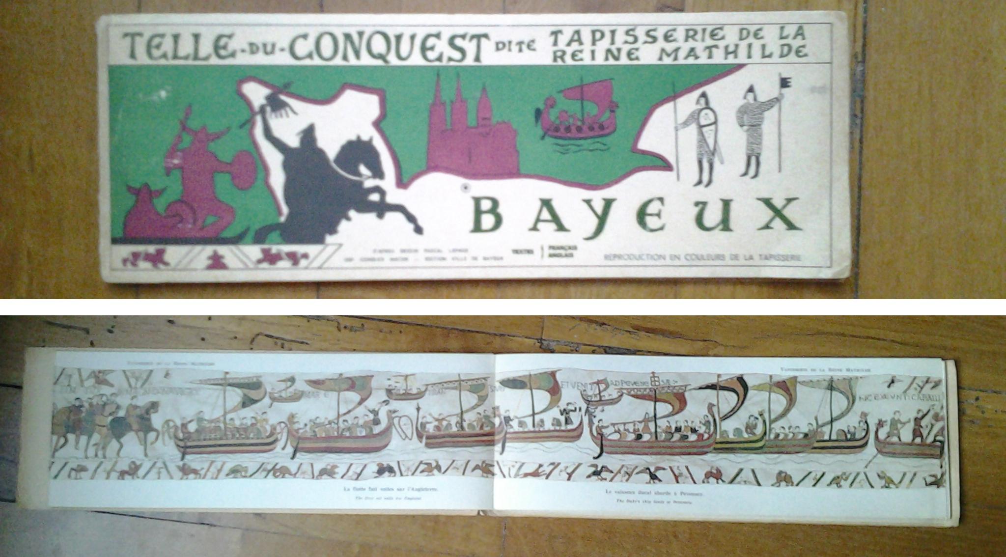 Une version imprimée de la tapisserie de bayereux sous forme de leporello