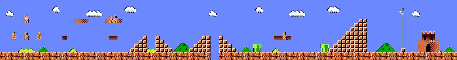 La fun du premier niveau de Mario Bros